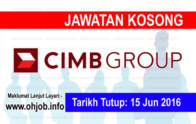 Jawatan Kerja Kosong CIMB Group logo www.ohjob.info jun 2016