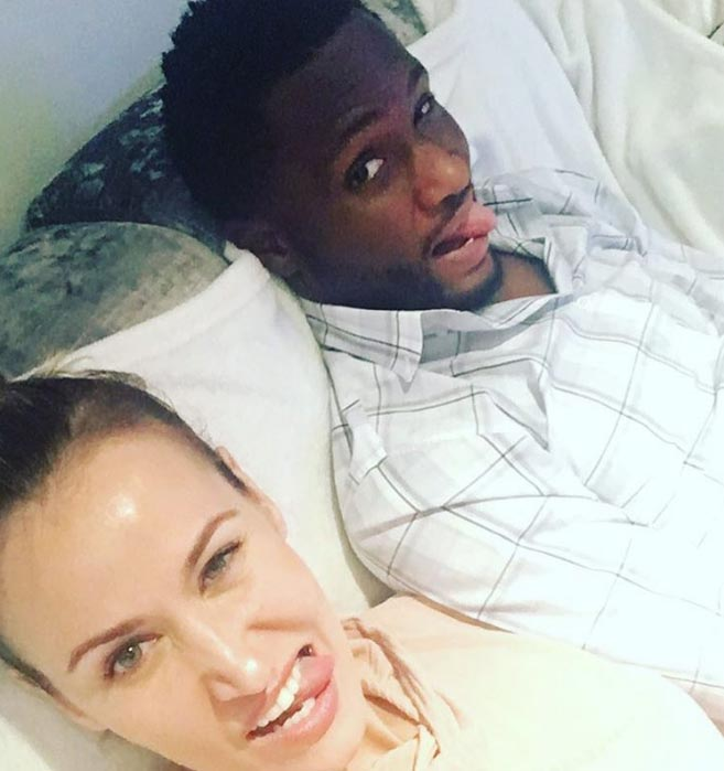 John Mikel Obi and girlfriend goof around in bedroom photo