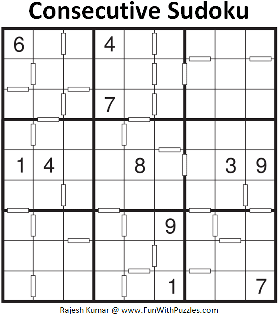 Consecutive Sudoku Puzzle (Fun With Sudoku #359)