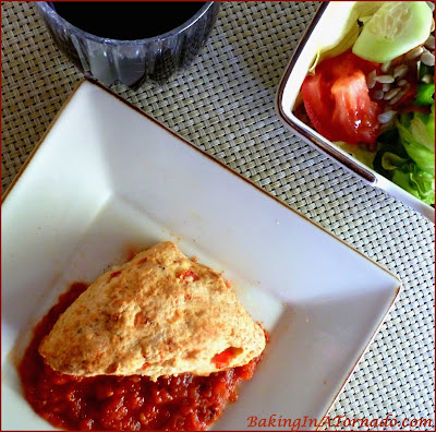 Pizza Brunch Scones, light and flaky savory scones infused with pizza ingredients. | Recipe developed by www.BakingInATornado.com | #recipe #cook