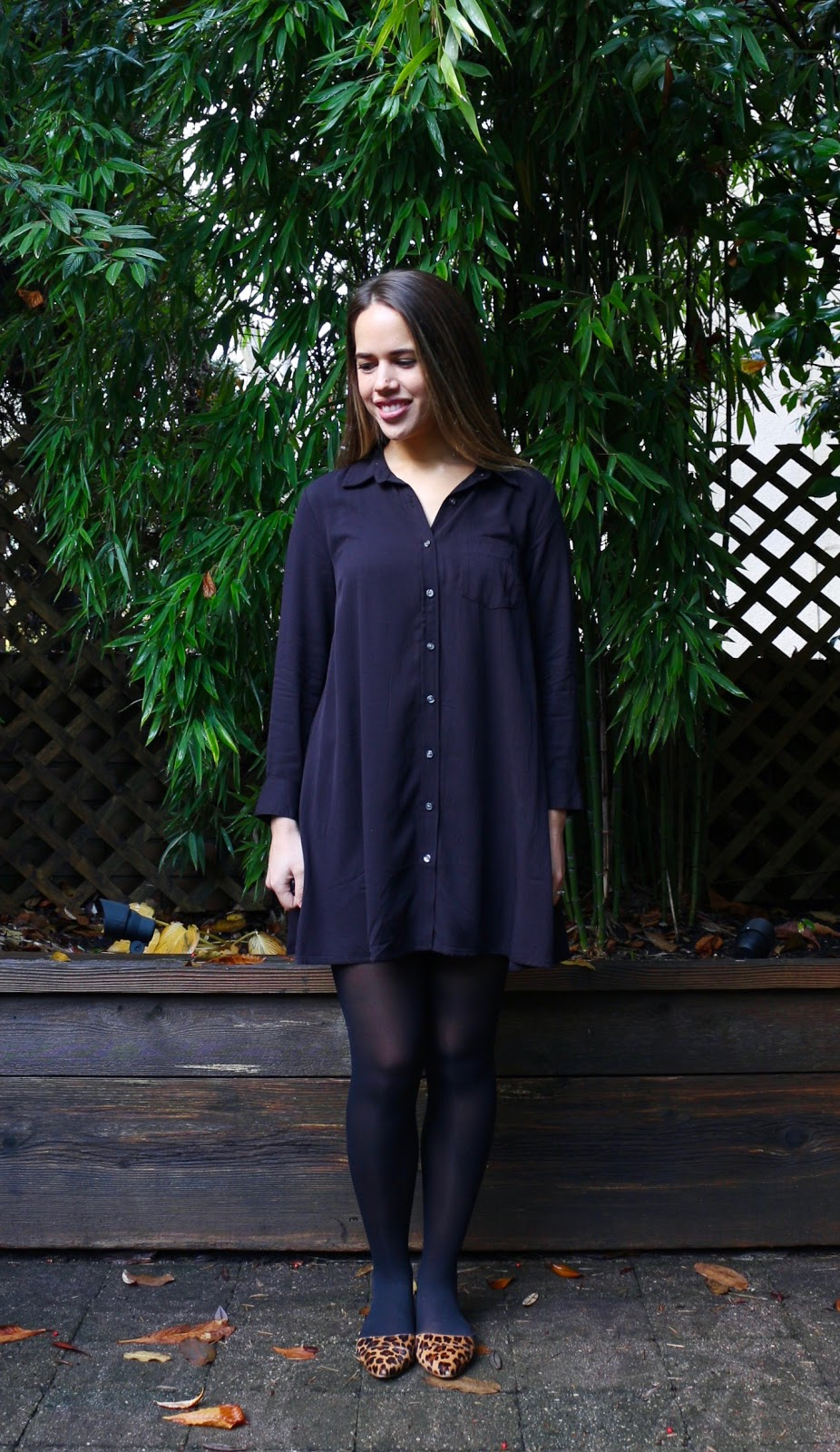 Jules in Flats - Swing Shirt Dress (Business Casual Fall Workwear on a Budget)