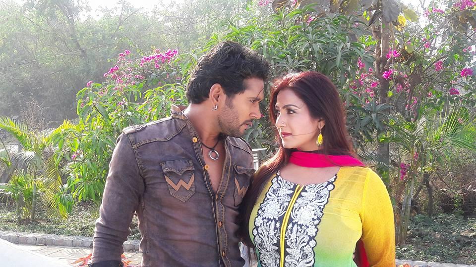 Yash Kumar Mishra, Sweety Chhabra ON Set of Aashiqanaa Bhojpuri Film Shooting photo