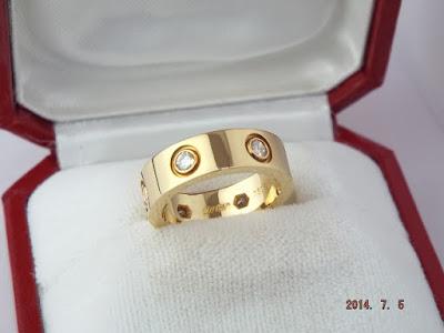 Cartier(カルティエ) ラブリング フルダイヤ ダイヤモンド 9号 49 18金イエローゴールド