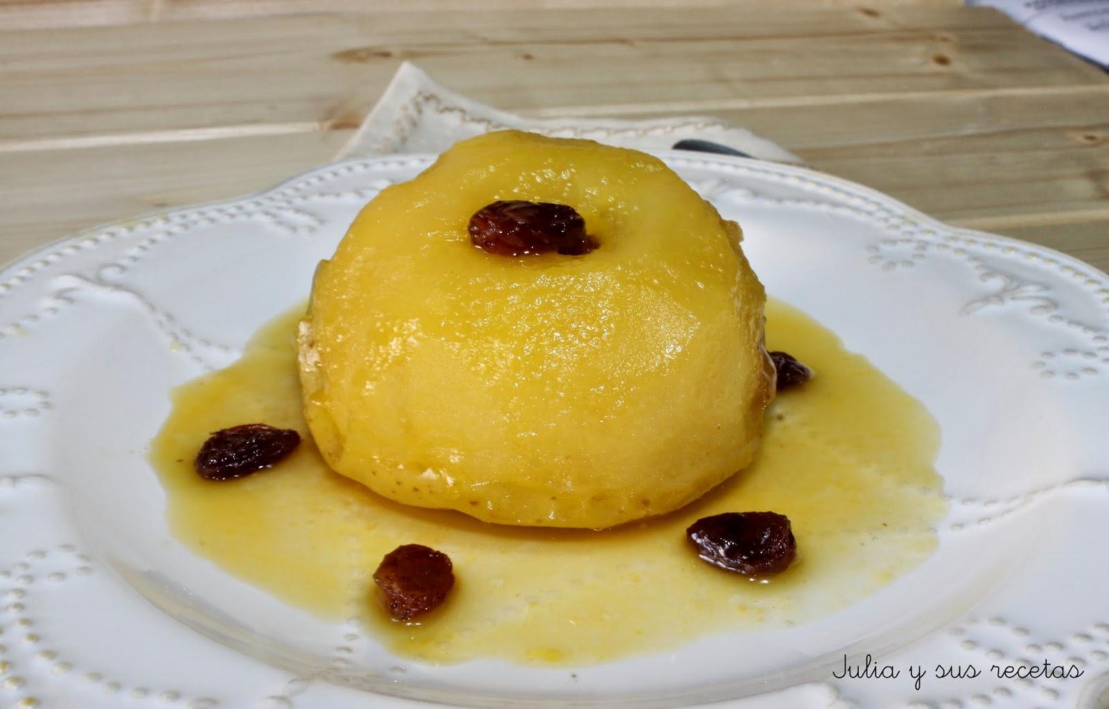 Manzanas a la miel en microondas. Julia y sus recetas