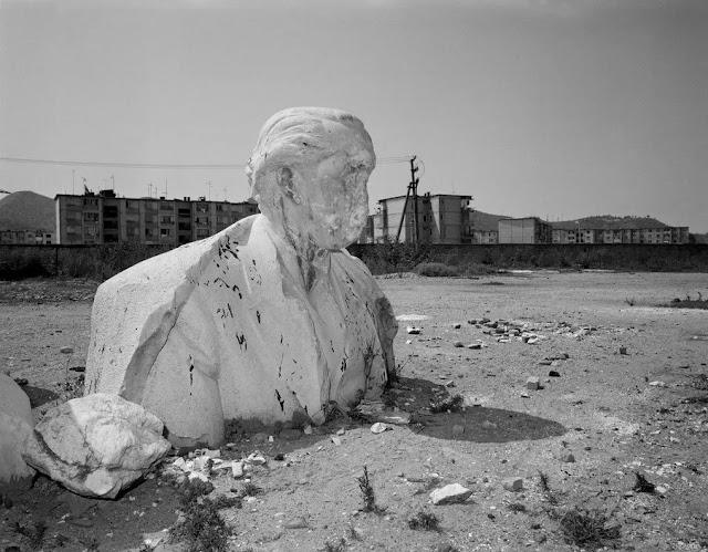 Enver Hoxha damaged statue in Albania