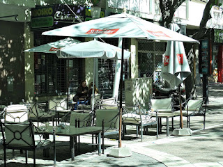 Bar ao Ar Livre, no Paseo Peatonal Sarmiento, Cidade de Mendoza
