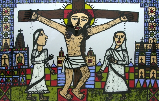 Christ on a Cross by Madhvi Parekh ( from limited edition prints collection on www.indiaart.com )