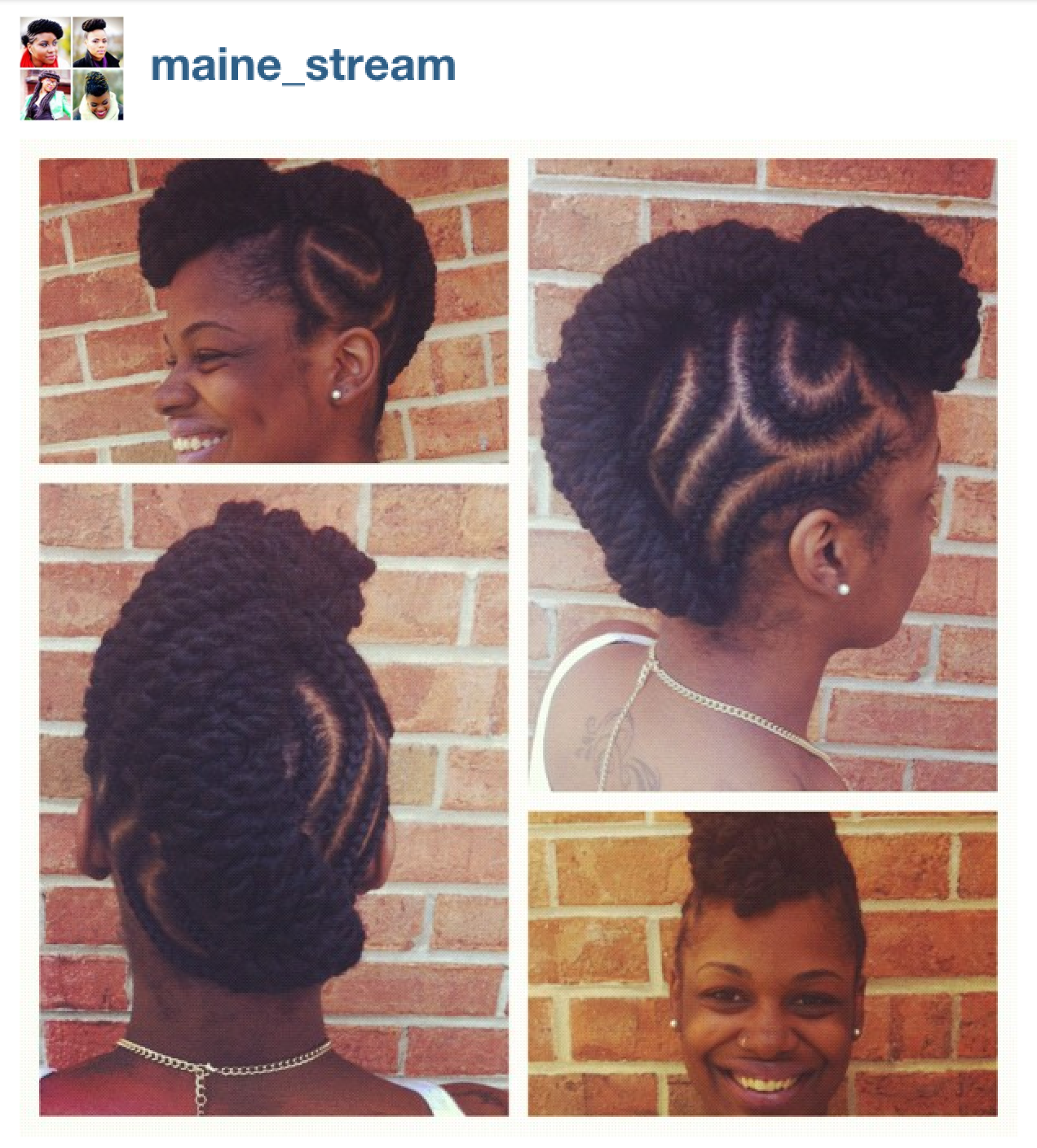Sensational Natural Cornrow Hairstyle By Natalie Keepitkinkykeepitkinky Hairstyle Inspiration Daily Dogsangcom