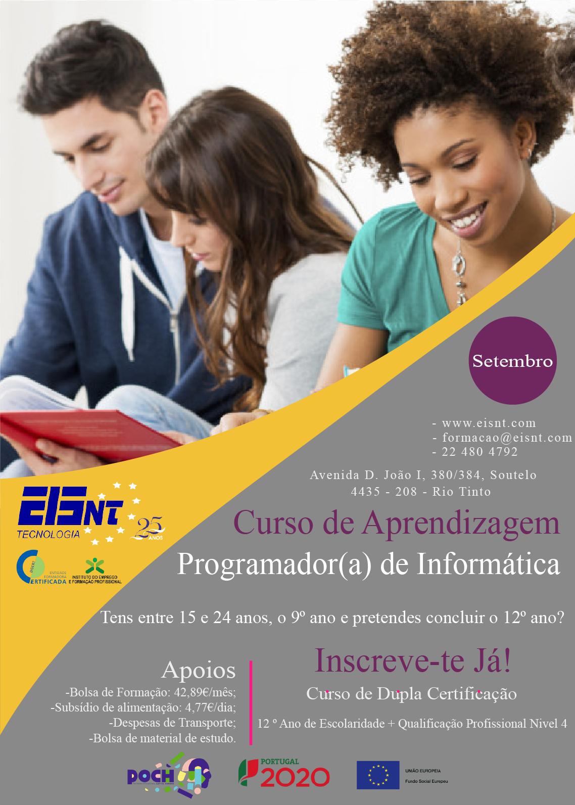 Curso de aprendizagem em Rio Tinto