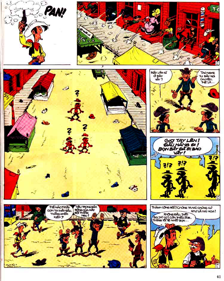 Lucky Luke tap 15 - ma dalton trang 42