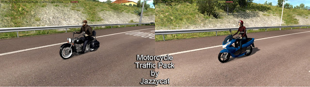 ats motorcycle traffic pack v2.5 screenshots 1, Harley Davidson Heritage Classic, Honda PCX