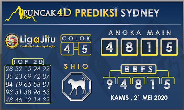 PREDIKSI TOGEL SYDNEY PUNCAK4D 21 MEI 2020