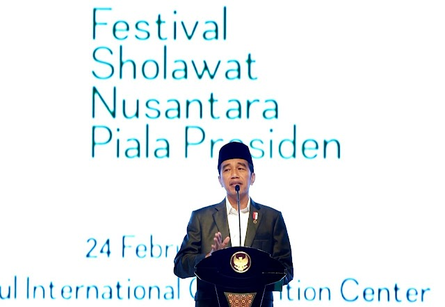 Presiden Buka Festival Sholawat Nusantara Piala Presiden