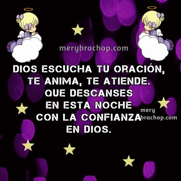 Frases cristianas de buenas noches, mensajes cortos de la noche, feliz noche para amigos del facebook con imágenes cristianas por Mery Bracho