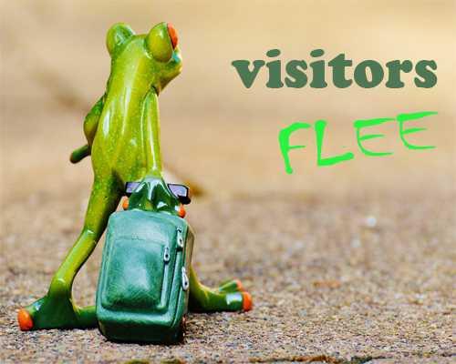 10 Penyebab Pengunjung Blog Kabur