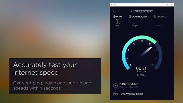 تحميل برنامج فحص سرعة الانترنت ويندوز 10 Speedtest