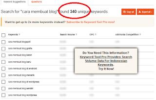 tools pencari keyword online