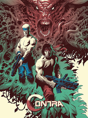San Diego Comic-Con 2017 Exclusive Contra Screen Print by Eric Powell x Mondo