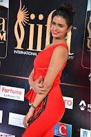 Meenakshi Dixit in Red One Shoulder Red Zipped up gown at IIFA Utsavam Award 04.JPG