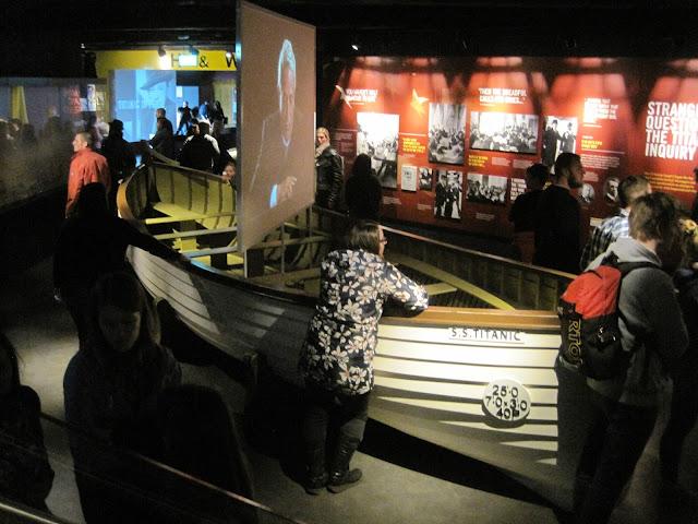 boat in Titanic museum