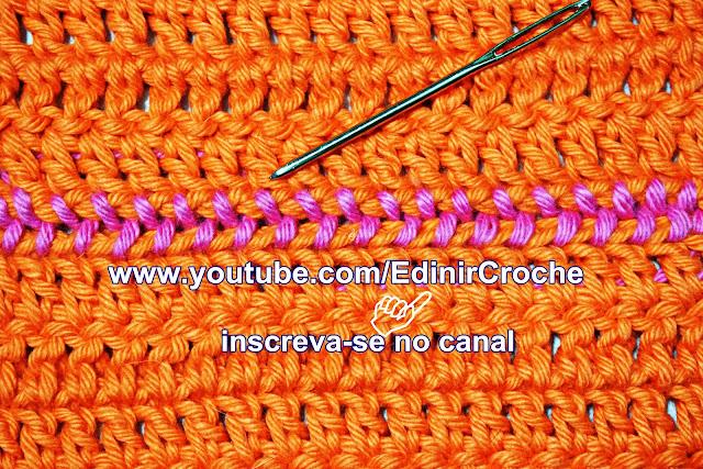 Como costurar crochê do jeito certo com Edinir-Croche