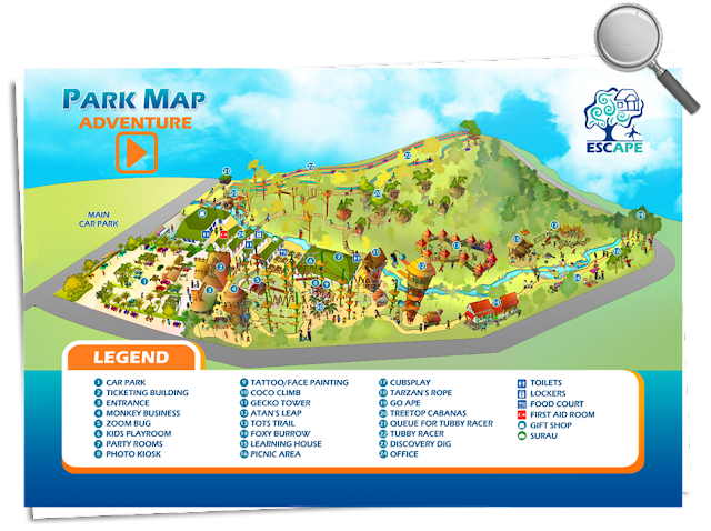 Map for Escape Theme Park Penang