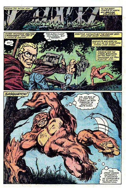 Alpha Flight v1 #1 marvel comic book page art by John Byrne