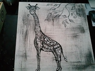 ręcznie malowana na zamówienie wzory kolory zwierzęta mandala