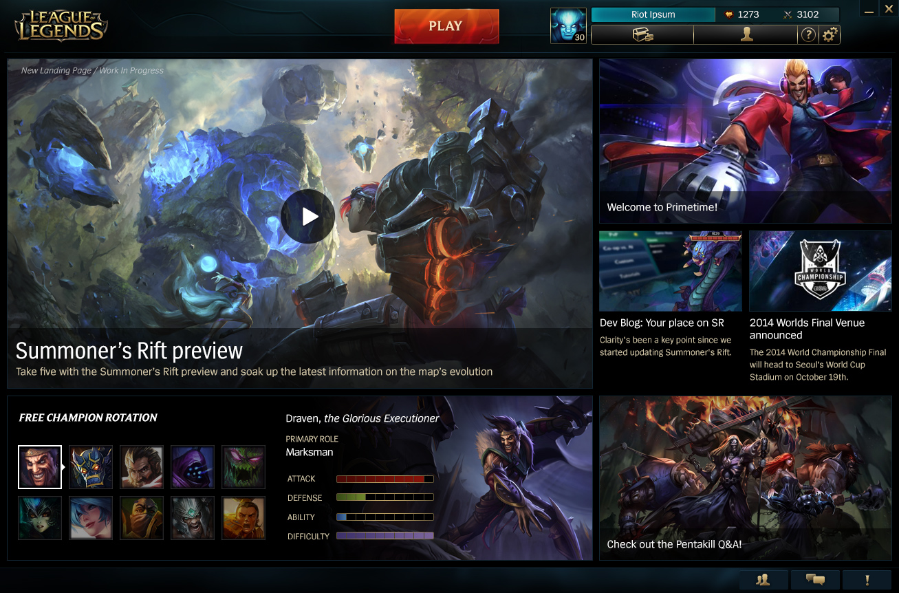Surrender At 20 Patcher Amp Landing Page Visual Refresh To Pbe