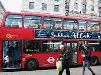 """Sambut Ramadan, Bus-bus di London Bertuliskan """"Subhan Allah"""""""
