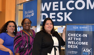 photo of financial aid team near welcome center