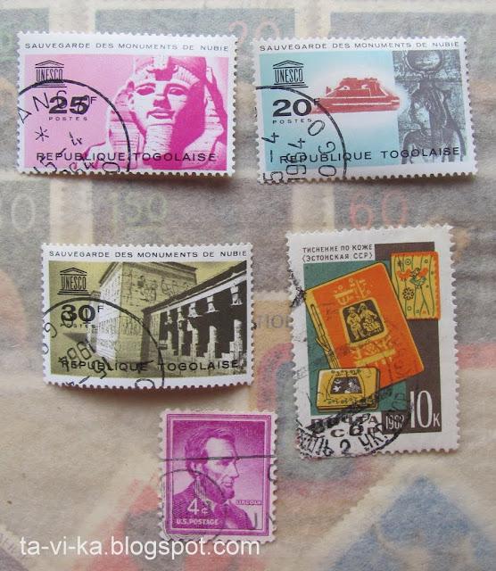 марки Тоголез Эстонии США