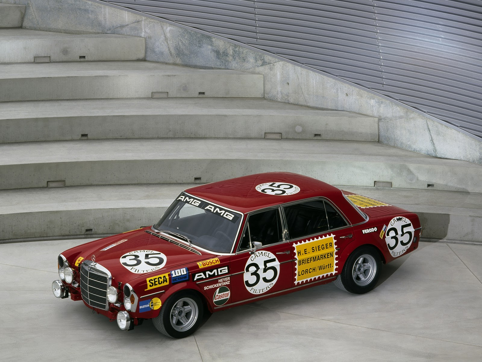 Fab wheels digest f w d 1971 mercedes benz amg 300sel for Mercedes benz race