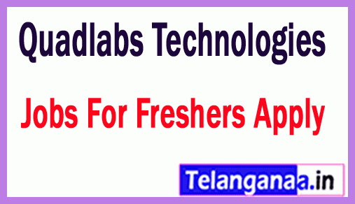 Quadlabs Technologies Recruitment Jobs For Freshers Apply