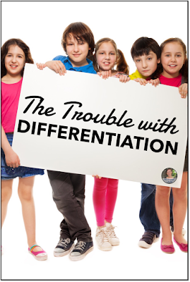Differentiation is something all Middle School teachers want to do, but seem to have trouble with this one little thing. #intheclassroom