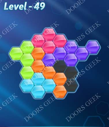 Block! Hexa Puzzle [6 Mania] Level 49 Solution, Cheats, Walkthrough for android, iphone, ipad, ipod
