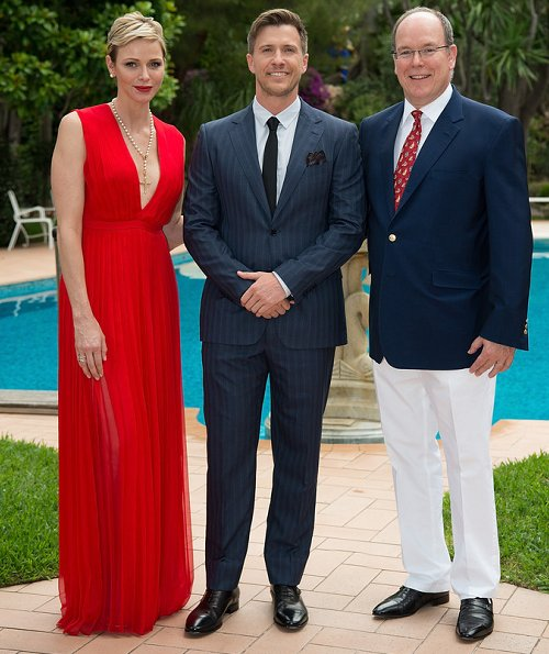 Prince Albert and Princess Charlene hosted a reception for the 57th Monte Carlo TV Festival (Festival de Television de Monte-Carlo - FTV2017)