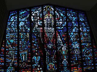Stained glass window in St Thomas Aquinas