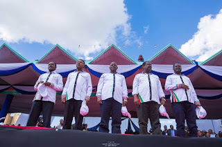 NASA announcing the flagbearer at Uhuru Park. PHOTO | Courtesy
