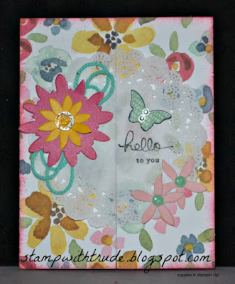 Trude Thoman, Tutorial Tuesday # 8, Stampin' Up!, embellishments, Endless Birthday Wishes, Candy Dots, Floral Greeting Card