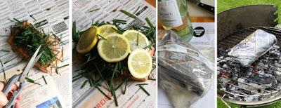 Zubereitung Lachs, gegrillt in einer Tageszeitung