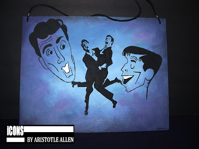Dean Martin and Jerry Lewis iCONS Hanging Art Signs
