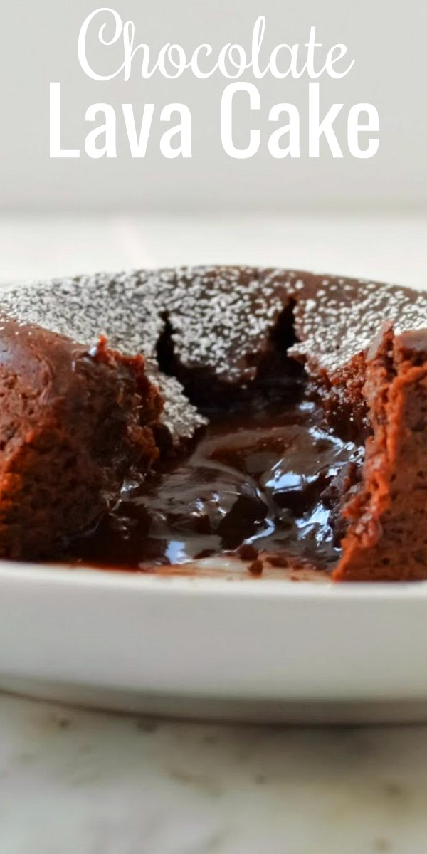 Chocolate Lava Cake recipe with molten chocolate center is the perfect chocolate fix! A great dessert for Valentines Day from Serena Bakes Simply From Scratch.