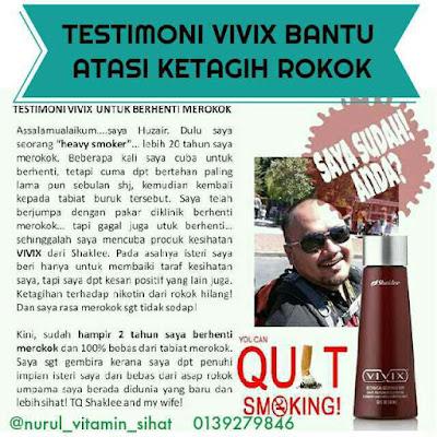 testimoni vivix bantu hentikan ketagihan merokok dengan cepat dan berkesan