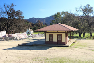 Another photo of the Western Town Paramount Ranch Train Station.
