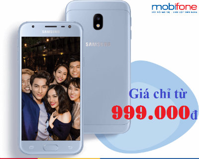 Mobifone bán Samsung Galaxy J3 Pro chỉ từ 999.000đ