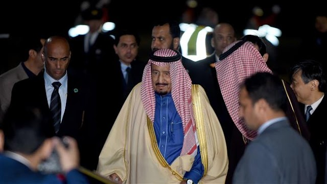 Saudi King Salman bin Abdulaziz Al Saud arrives in Tokyo on lavish visit