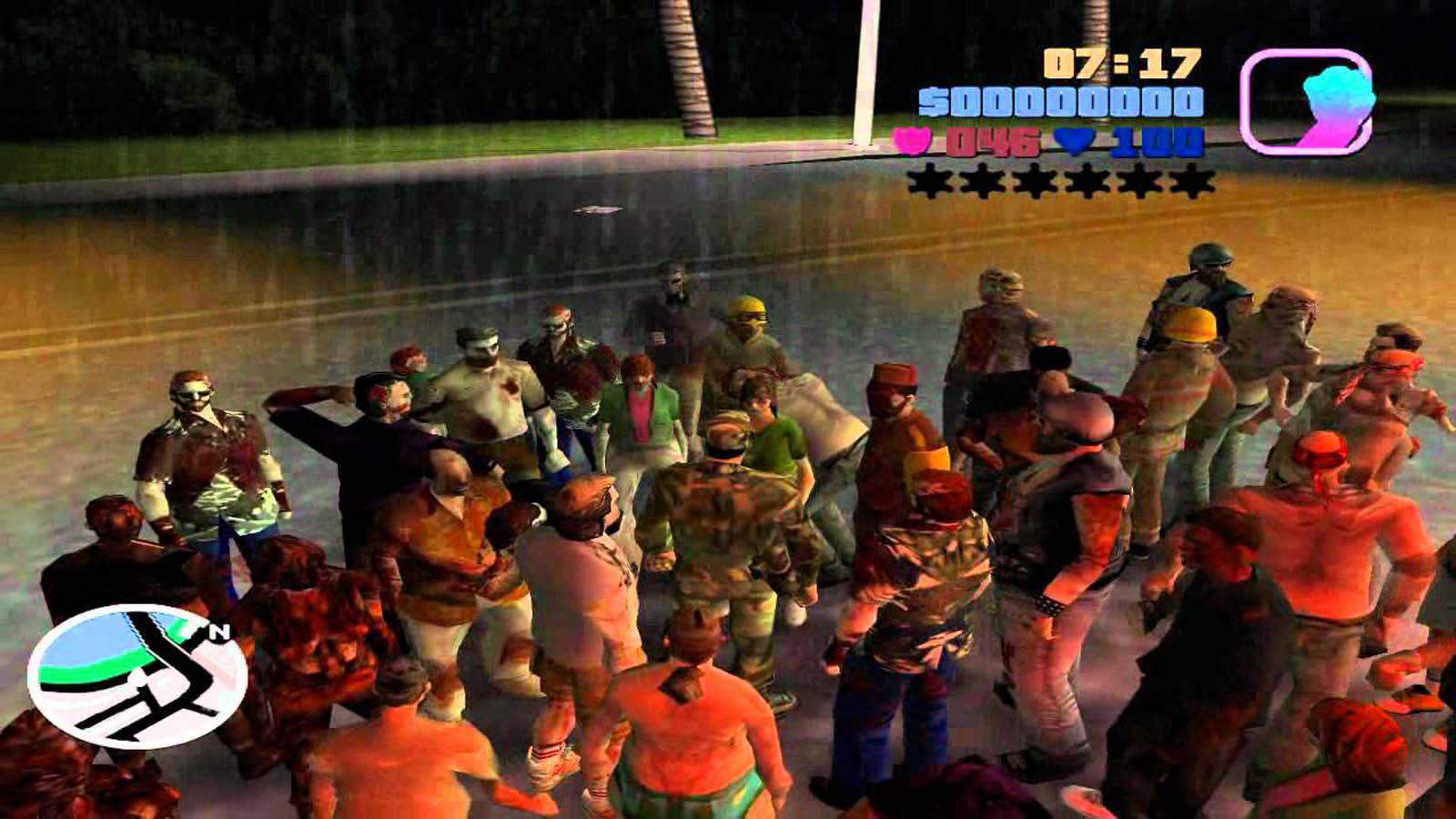 تحميل لعبة GTA Vice City Long Night Zombie مضغوطة برابط واحد مباشر كاملة مجانا