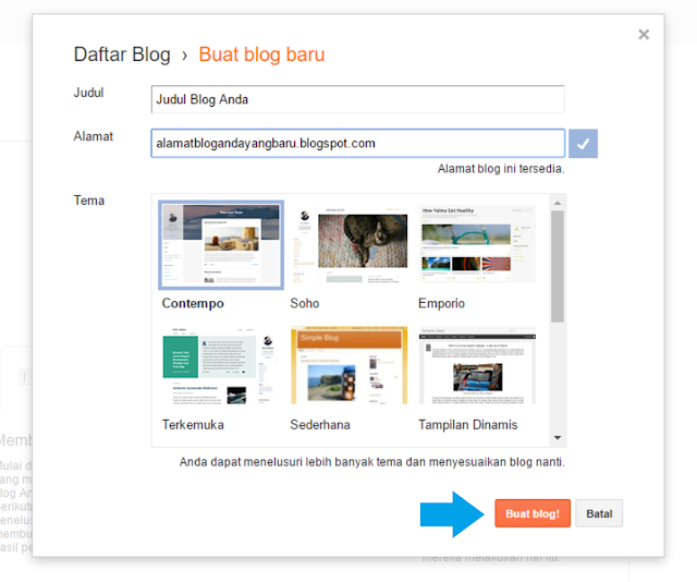 Panduan Cara Membuat Blog di Blogger.com Yang Praktis Dan Mudah 2017