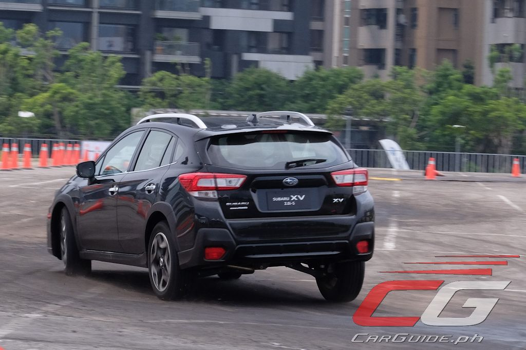2018 subaru xv. beautiful 2018 the final handling course ups that experience by having the subaru xv do a  highspeed right hander on steel plate covered in oil and 2018 subaru xv s
